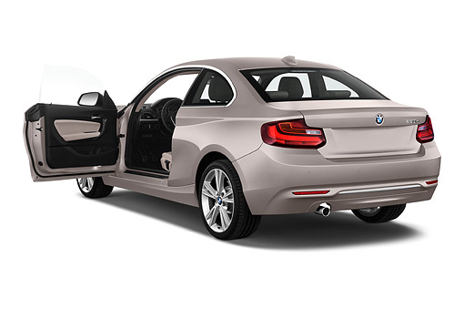 AUT 51 IZ2448 01 © Kimball Stock 2015 BMW 2 Series 228i Coupe 2-Door 3/4 Rear View In Studio
