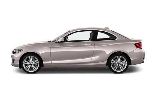 AUT 51 IZ2451 01 © Kimball Stock 2015 BMW 2 Series 228i Coupe 2-Door Profile View In Studio