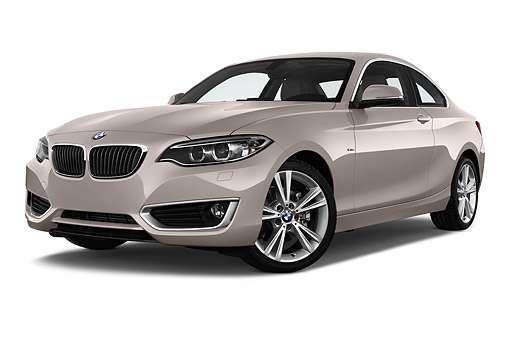 AUT 51 IZ2452 01 © Kimball Stock 2015 BMW 2 Series 228i Coupe 2-Door 3/4 Front View In Studio