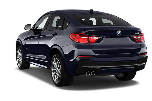 AUT 51 IZ2468 01 © Kimball Stock 2015 BMW X4 XDrive 28i 5-Door SUV 3/4 Rear View In Studio