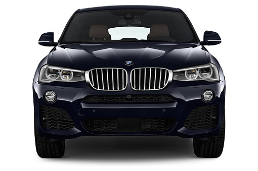 AUT 51 IZ2470 01 © Kimball Stock 2015 BMW X4 XDrive 28i 5-Door SUV Front View In Studio