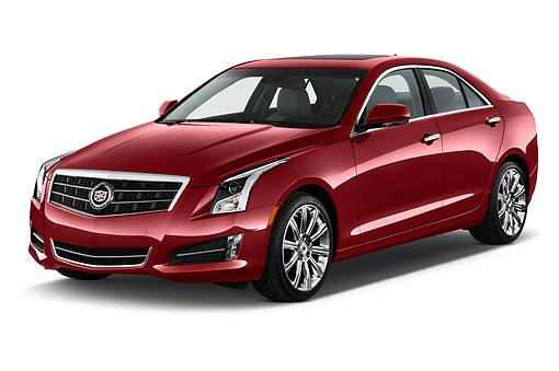 AUT 51 IZ2495 01 © Kimball Stock 2015 Cadillac ATS 2.5L Standard RWD 4-Door Sedan 3/4 Front View In Studio