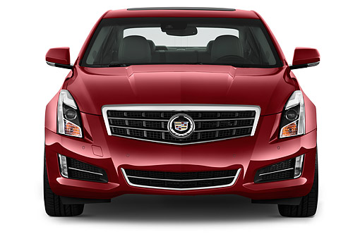 AUT 51 IZ2498 01 © Kimball Stock 2015 Cadillac ATS 2.5L Standard RWD 4-Door Sedan Front View In Studio