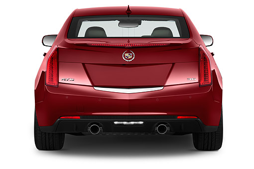 AUT 51 IZ2499 01 © Kimball Stock 2015 Cadillac ATS 2.5L Standard RWD 4-Door Sedan Rear View In Studio
