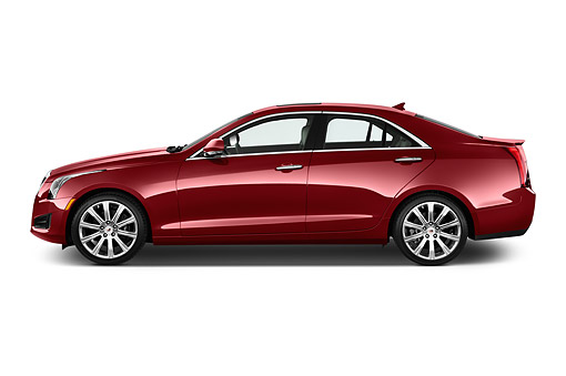 AUT 51 IZ2500 01 © Kimball Stock 2015 Cadillac ATS 2.5L Standard RWD 4-Door Sedan Profile View In Studio