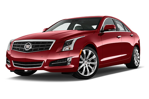 AUT 51 IZ2501 01 © Kimball Stock 2015 Cadillac ATS 2.5L Standard RWD 4-Door Sedan 3/4 Front View In Studio