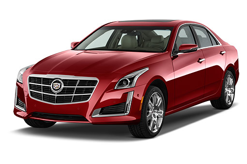 AUT 51 IZ2502 01 © Kimball Stock 2015 Cadillac CTS 3.0 RWD Luxury Collection 4-Door Sedan 3/4 Front View In Studio
