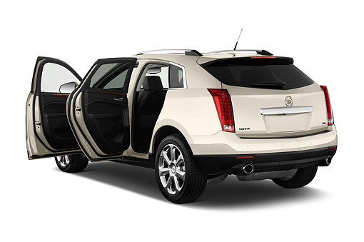 AUT 51 IZ2518 01 © Kimball Stock 2015 Cadillac SRX FWD Premium Collection 3/4 Rear View In Studio