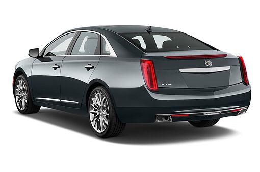 AUT 51 IZ2524 01 © Kimball Stock 2015 Cadillac XTS 3.6L FWD Platinum Collection 4-Door Sedan 3/4 Rear View In Studio