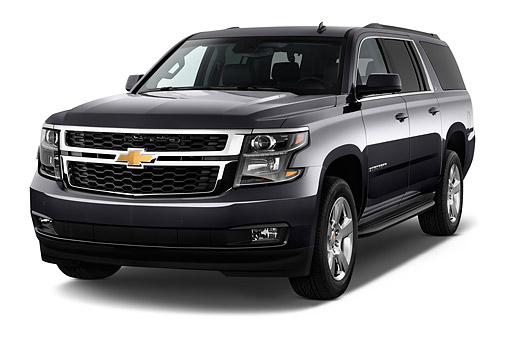 AUT 51 IZ2597 01 © Kimball Stock 2015 Chevrolet Suburban 2WD 1500 LT 5-Door SUV 3/4 Front View In Studio