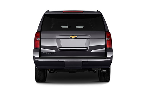AUT 51 IZ2601 01 © Kimball Stock 2015 Chevrolet Suburban 2WD 1500 LT 5-Door SUV Rear View In Studio