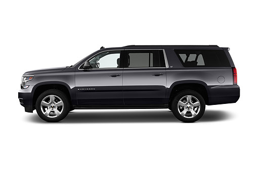 AUT 51 IZ2602 01 © Kimball Stock 2015 Chevrolet Suburban 2WD 1500 LT 5-Door SUV Profile View In Studio