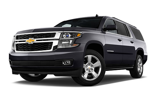 AUT 51 IZ2603 01 © Kimball Stock 2015 Chevrolet Suburban 2WD 1500 LT 5-Door SUV 3/4 Front View In Studio