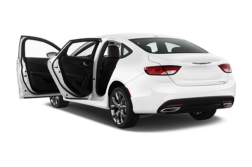 AUT 51 IZ2634 01 © Kimball Stock 2015 Chrysler 200 S 4-Door Sedan 3/4 Rear View In Studio