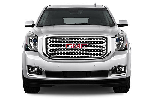 AUT 51 IZ2649 01 © Kimball Stock 2015 GMC Yukon Denali 2WD 5-Door SUV Front View In Studio