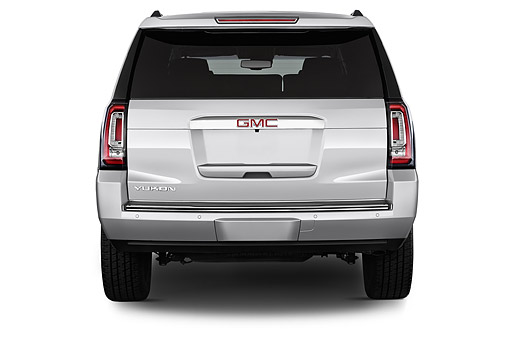 AUT 51 IZ2650 01 © Kimball Stock 2015 GMC Yukon Denali 2WD 5-Door SUV Rear View In Studio