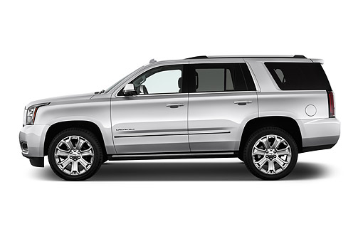 AUT 51 IZ2651 01 © Kimball Stock 2015 GMC Yukon Denali 2WD 5-Door SUV Profile View In Studio