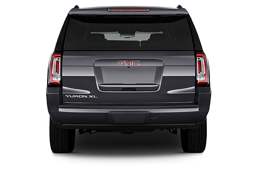 AUT 51 IZ2657 01 © Kimball Stock 2015 GMC Yukon XL 2WD Half-Ton SLT 4SA 5-Door SUV Rear View In Studio