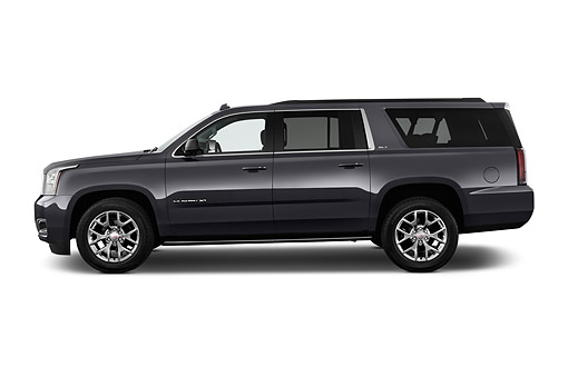 AUT 51 IZ2658 01 © Kimball Stock 2015 GMC Yukon XL 2WD Half-Ton SLT 4SA 5-Door SUV Profile View In Studio