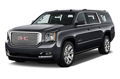 AUT 51 IZ2660 01 © Kimball Stock 2015 GMC Yukon XL Denali 2WD 5-Door SUV 3/4 Front View In Studio