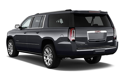 AUT 51 IZ2661 01 © Kimball Stock 2015 GMC Yukon XL Denali 2WD 5-Door SUV 3/4 Rear View In Studio