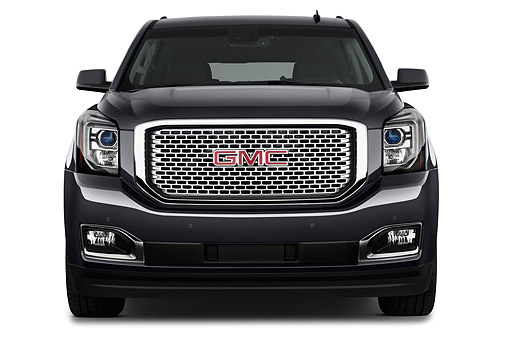 AUT 51 IZ2664 01 © Kimball Stock 2015 GMC Yukon XL Denali 2WD 5-Door SUV Front View In Studio