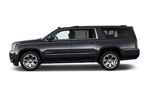 AUT 51 IZ2666 01 © Kimball Stock 2015 GMC Yukon XL Denali 2WD 5-Door SUV Profile View In Studio