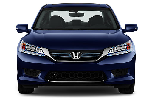 AUT 51 IZ2671 01 © Kimball Stock 2015 Honda Accord Hybrid 4-Door Sedan Front View In Studio