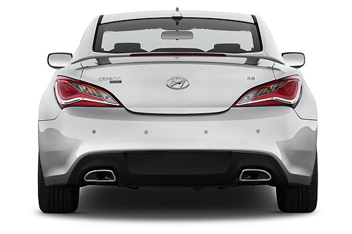AUT 51 IZ2693 01 © Kimball Stock 2015 Hyundai Genesis Coupe 3.8t 8-Speed AT 2-Door Rear View In Studio