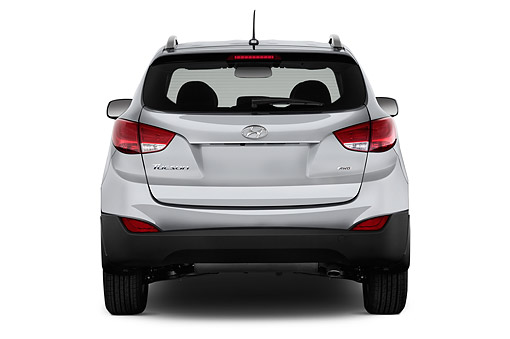 AUT 51 IZ2707 01 © Kimball Stock 2015 Hyundai Tucson SE AWD 5-Door SUV Rear View In Studio