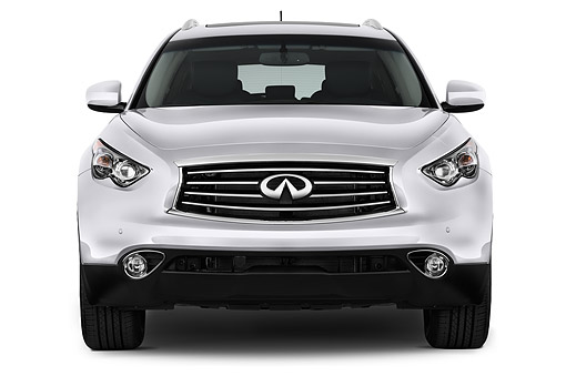 AUT 51 IZ2720 01 © Kimball Stock 2015 Infiniti QX70 3.5 5-Door SUV Front View In Studio