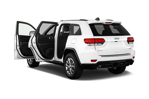 AUT 51 IZ2747 01 © Kimball Stock 2015 Jeep Grand Cherokee Limited 5-Door SUV 3/4 Rear View In Studio