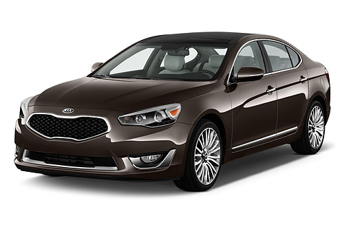 AUT 51 IZ2773 01 © Kimball Stock 2015 Kia Cadenza Base 4-Door Sedan 3/4 Front View In Studio