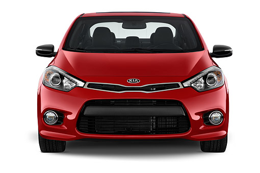AUT 51 IZ2790 01 © Kimball Stock 2015 KIA Forte Koup SX AT 2-Door Front View In Studio