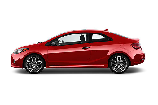 AUT 51 IZ2792 01 © Kimball Stock 2015 KIA Forte Koup SX AT 2-Door Profile View In Studio