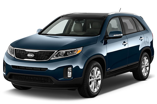 AUT 51 IZ2815 01 © Kimball Stock 2015 KIA Sorento EX V6 AT 5-Door SUV 3/4 Front View In Studio