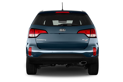 AUT 51 IZ2819 01 © Kimball Stock 2015 KIA Sorento EX V6 AT 5-Door SUV Rear View In Studio