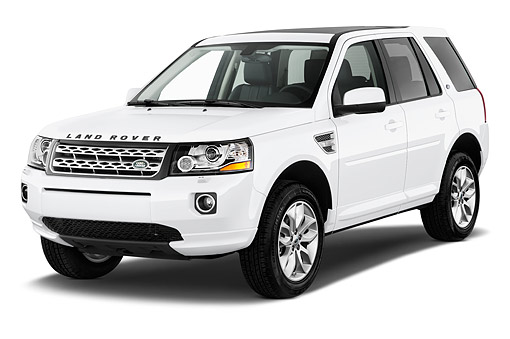 AUT 51 IZ2829 01 © Kimball Stock 2015 Land Rover LR2 Base 5-Door SUV 3/4 Front View In Studio
