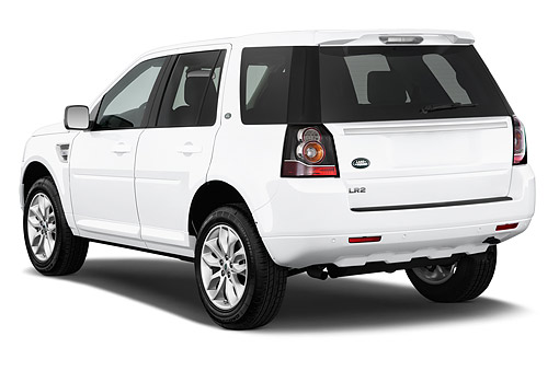 AUT 51 IZ2830 01 © Kimball Stock 2015 Land Rover LR2 Base 5-Door SUV 3/4 Rear View In Studio