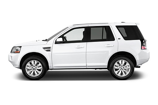 AUT 51 IZ2834 01 © Kimball Stock 2015 Land Rover LR2 Base 5-Door SUV Profile View In Studio