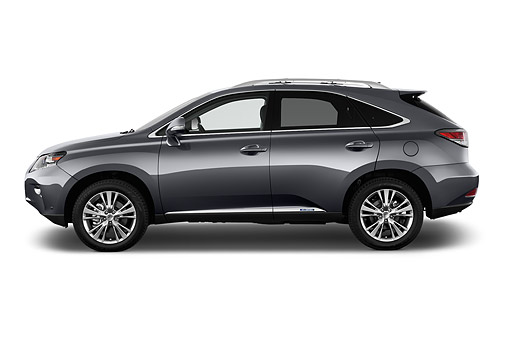 AUT 51 IZ2855 01 © Kimball Stock 2015 Lexus RX 450h Hybrid 5-Door SUV Profile View In Studio