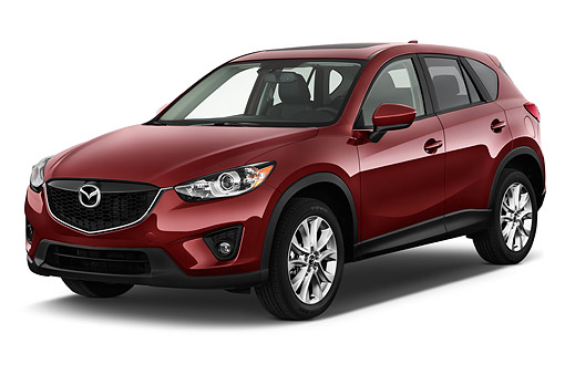 AUT 51 IZ2878 01 © Kimball Stock 2015 Mazda CX-5 Grand Touring Auto 5-Door SUV 3/4 Front View In Studio