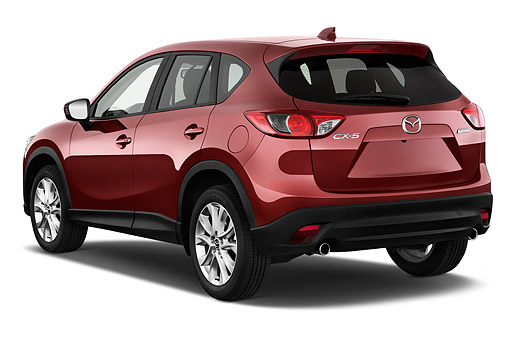 AUT 51 IZ2879 01 © Kimball Stock 2015 Mazda CX-5 Grand Touring Auto 5-Door SUV 3/4 Rear View In Studio