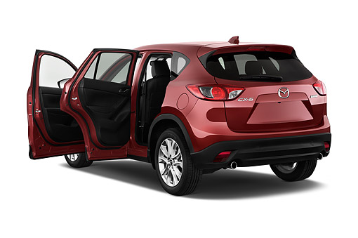 AUT 51 IZ2880 01 © Kimball Stock 2015 Mazda CX-5 Grand Touring Auto 5-Door SUV 3/4 Rear View In Studio