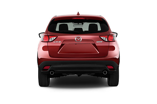 AUT 51 IZ2882 01 © Kimball Stock 2015 Mazda CX-5 Grand Touring Auto 5-Door SUV Rear View In Studio