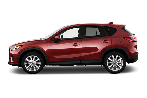 AUT 51 IZ2883 01 © Kimball Stock 2015 Mazda CX-5 Grand Touring Auto 5-Door SUV Profile View In Studio