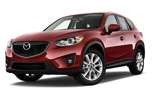 AUT 51 IZ2884 01 © Kimball Stock 2015 Mazda CX-5 Grand Touring Auto 5-Door SUV Low 3/4 Front View In Studio