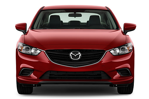 AUT 51 IZ2902 01 © Kimball Stock 2015 Mazda 6i Touring Auto 4-Door Sedan Front View In Studio
