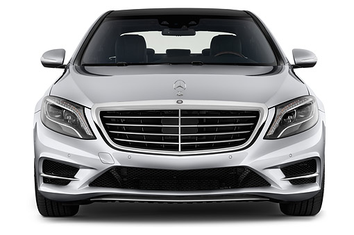 AUT 51 IZ2916 01 © Kimball Stock 2015 Mercedes Benz S-Class 550 4-Door Sedan Front View In Studio