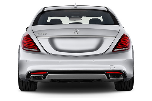 AUT 51 IZ2917 01 © Kimball Stock 2015 Mercedes Benz S-Class 550 4-Door Sedan Rear View In Studio